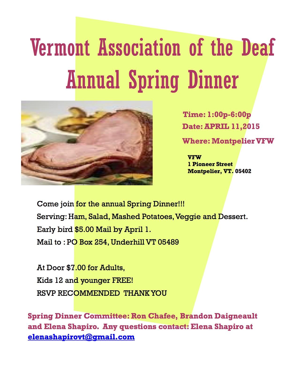 VTAD Spring flyer